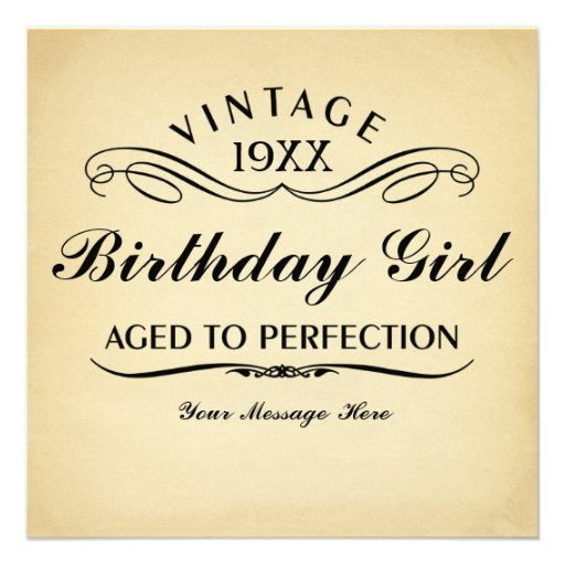 Personalized Aged To Perfection Invitations
