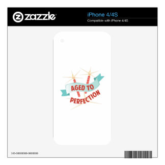 Aged To Perfection iPhone 4S Decal