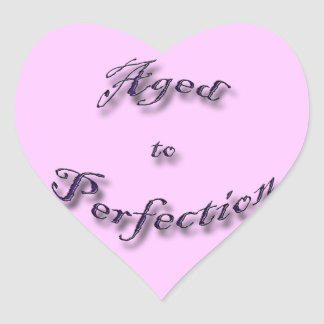 Aged to Perfection purple arch Heart Sticker