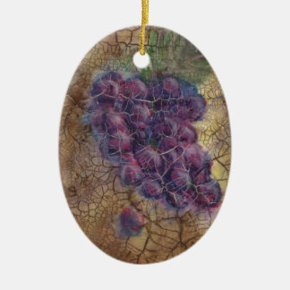"""""""Aged to PErfection"""" Rustic Tuscan Grapes ornament"""