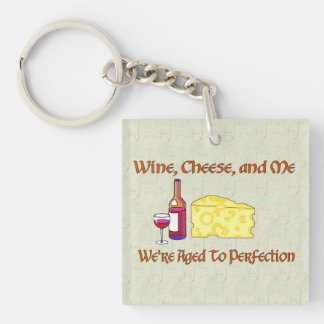 Aged To Perfection Single-Sided Square Acrylic Keychain