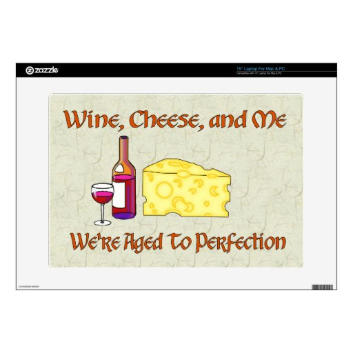 """Aged To Perfection 15"""" Laptop Decal"""