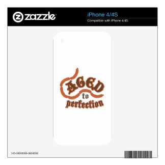Aged to Perfection Skins For The iPhone 4