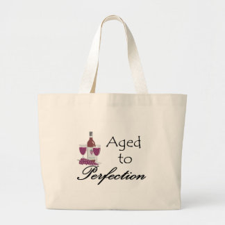 Aged to Perfection T-shirts and Gifts. Large Tote Bag