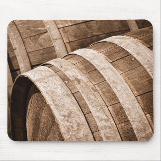 Aged to Perfection Wine Barrels Vintage Cellar Mouse Pad