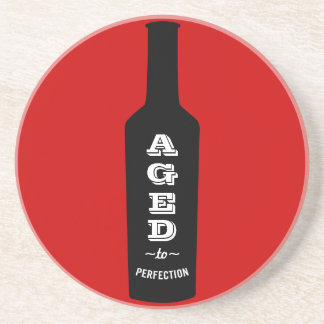 Aged to Perfection Wine Lover Gift Drink Coaster