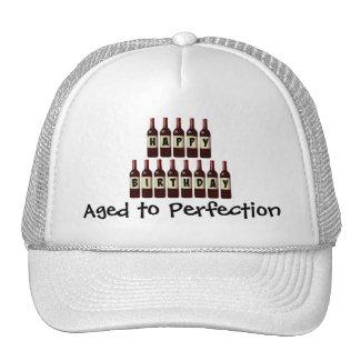 Happy Birthday Wine Bottles Aged to Perfection Trucker Hat
