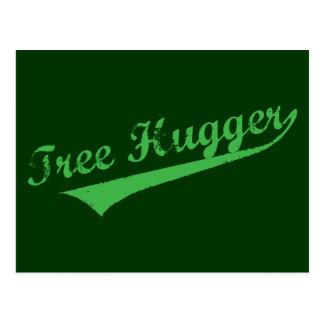 Aged Tree Hugger Postcard