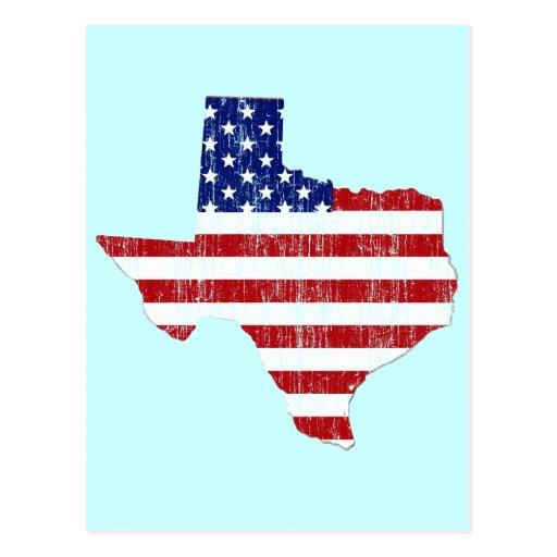 AGED US FLAG TEXAS POSTCARDS