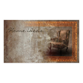 Aged Vintage Classic Interior Designer Card Business Cards