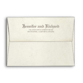 Aged Vintage Gothic Wedding Envelope