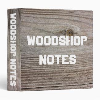 "Aged Wood 1.5"" Binder"