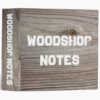 "Aged Wood 2"" Binder"