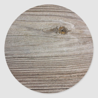 Aged Wood Classic Round Sticker