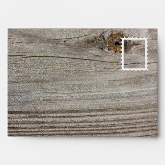 Aged Wood Envelope