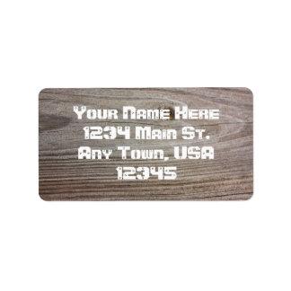 Aged Wood Label