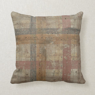 Aged Wood Pattern Modern Style Pastel Color Pillow