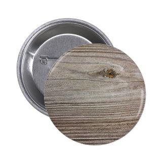 Aged Wood Pinback Button