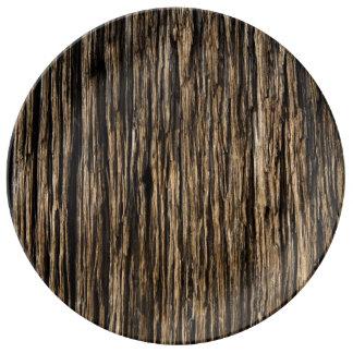 Aged Wood Plate