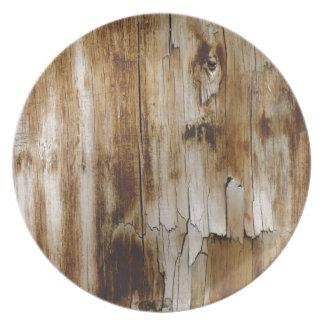 Aged Wood Plates