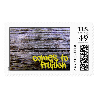 Aged Wood Postage Stamps