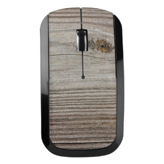 Aged Wood Wireless Mouse