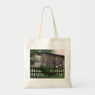 Aged Wooden Fence In A Village Budget Tote Bag