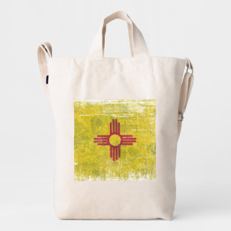 Ageing of the New Mexico flag Duck Bag