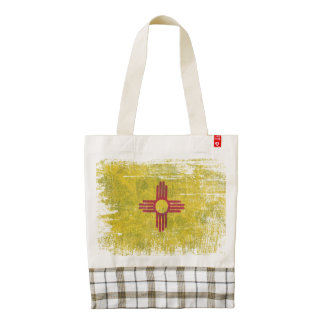 Ageing of the New Mexico flag Zazzle HEART Tote Bag