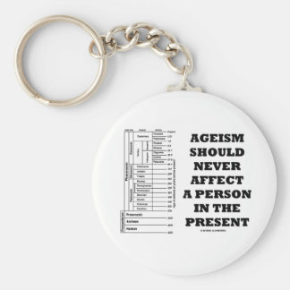 Ageism Should Never Affect A Person In The Present Basic Round Button Keychain