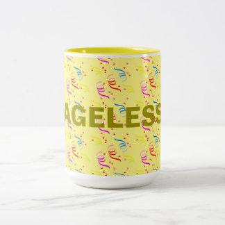 Ageless Birthday and Confetti Two-Tone Mug