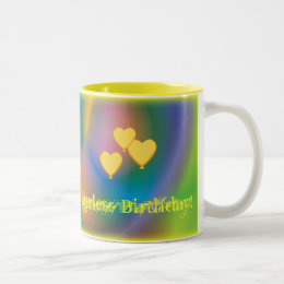 Ageless Birthday-Customize Two-Tone Coffee Mug