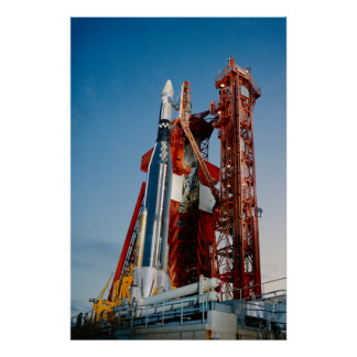 Agena Target Vehicle on Launch Pad for Gemini 11 Posters