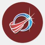 Agencia de la defensa del misil pegatinas redondas