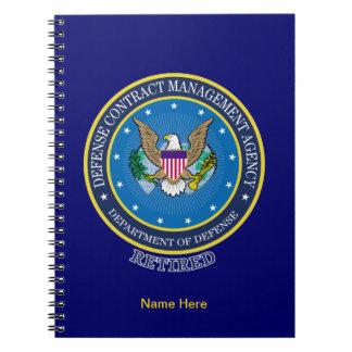 Agencia de la gestión del contrato de la defensa libreta espiral