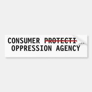 Agencia de la opresión de la protección al consumi pegatina para auto