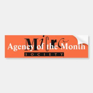 Agencia de la pegatina para el parachoques del mes pegatina para auto