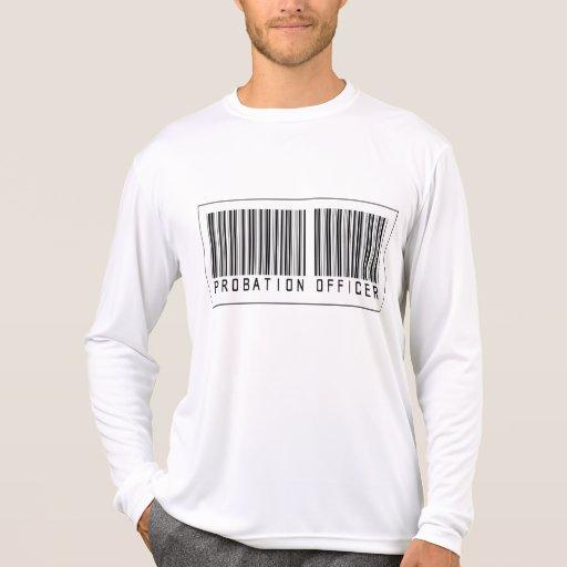 Agencia de libertad vigilada del código de barras camiseta