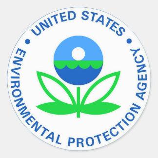 Agencia de Protección Ambiental EPA Pegatina Redonda