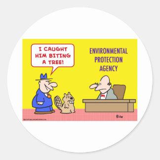 Agencia de Protección Ambiental penetrante del Etiqueta Redonda