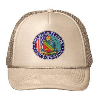 Agencia de seguridad del ejército y veterano de gorro
