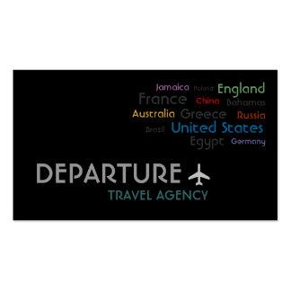 Agencia de viajes, agente, tarjeta de visita de