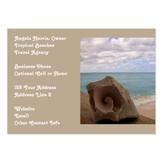 Agencia de viajes de las vacaciones de la playa tarjetas de visita grandes