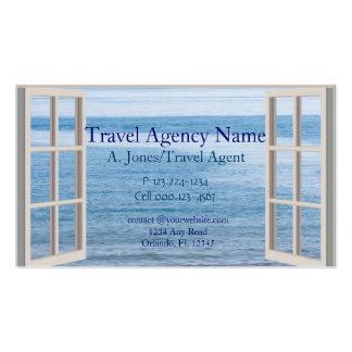 Agencia de viajes plantilla de tarjeta personal