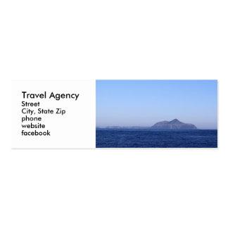 Agencia de viajes tarjetas de visita mini