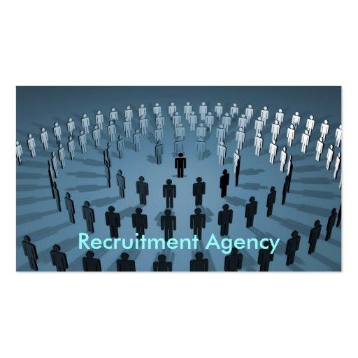 Agencia del reclutamiento tarjeta personal