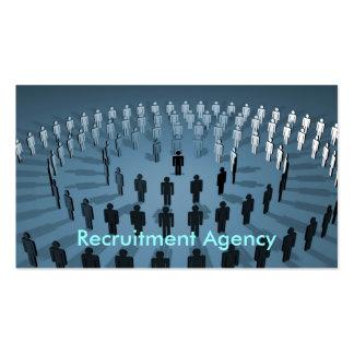 Agencia del reclutamiento tarjetas de visita