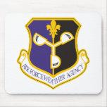 Agencia del tiempo de la fuerza aérea alfombrillas de raton