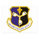 Agencia del tiempo de la fuerza aérea tarjetas postales