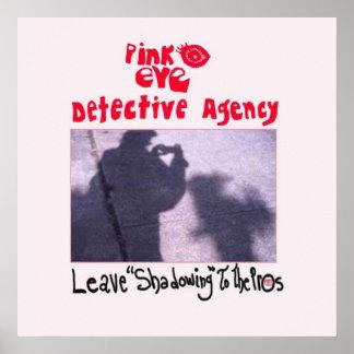 Agencia detective del ojo rosado póster